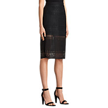 Buy AllSaints Charlton Skirt, Black Online at johnlewis.com