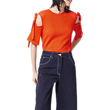 Buy Warehouse Pointelle Tie Shoulder Top Online at johnlewis.com