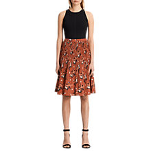 Buy AllSaints Etta Kirsch Skirt, Red Online at johnlewis.com
