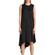 Buy AllSaints Elie Asymmetric Hem Dress Online at johnlewis.com
