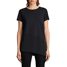 Buy AllSaints Lauryn T-Shirt, Black Online at johnlewis.com