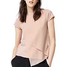 Buy Warehouse Woven Top, Light Pink Online at johnlewis.com