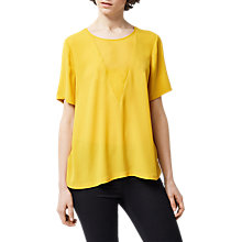 Buy Warehouse V Detail Woven T-Shirt Online at johnlewis.com