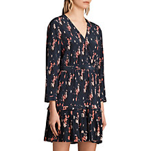 Buy AllSaints Mitre Kirsch Dress, Ink Blue Online at johnlewis.com
