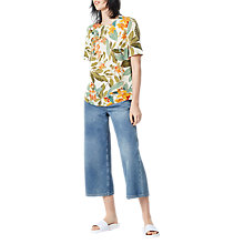 Buy Warehouse Tropical Garden T-Shirt, Neutral Online at johnlewis.com