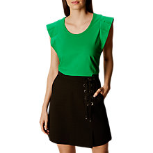 Buy Karen Millen Pleat Detail Jersey Top, Green Online at johnlewis.com