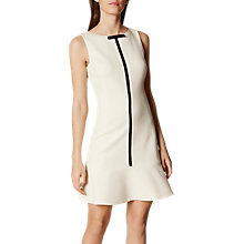 Buy Karen Millen Drop Waist Peplum Dress, Neutral Online at johnlewis.com