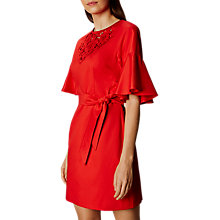 Buy Karen Millen Cut Work Floral Lace Dress, Lipstick Red Online at johnlewis.com