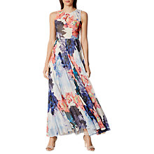 Buy Karen Millen Floral Pleated Maxi Dress, Multi Online at johnlewis.com