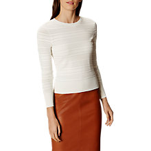 Buy Karen Millen Modern Stitch Jumper, White Online at johnlewis.com