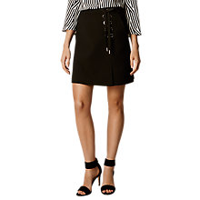 Buy Karen Millen Textured Eyelet Detail Skirt, Black Online at johnlewis.com