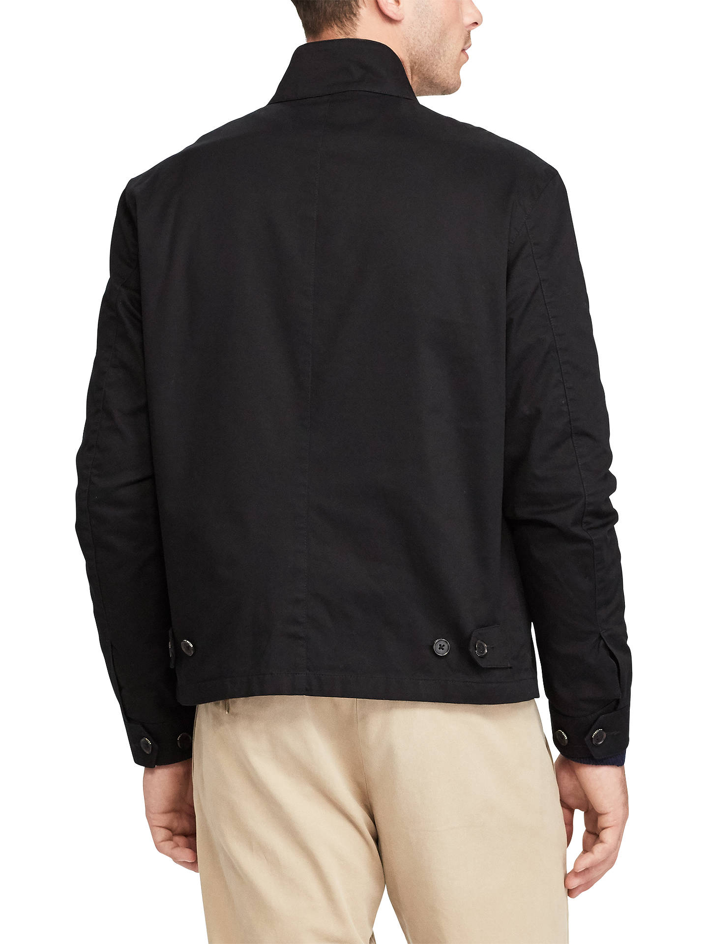 28e4317ff5141a ... BuyPolo Ralph Lauren Barracuda Lined Jacket, Polo Black, S Online at  johnlewis.com ...
