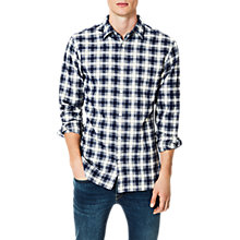 Buy Selected Homme Two Gunnar Long Sleeve Shirt, Dark Sapphire Online at johnlewis.com