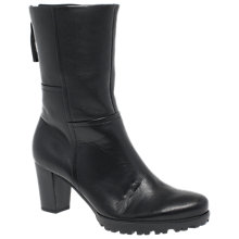 Buy Gabor Sagan Wide Fit Block Heeled Calf Boots, Black Online at johnlewis.com