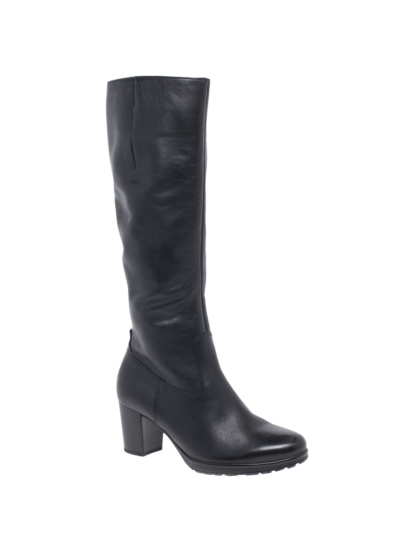 online here separation shoes outlet store sale Gabor Hillary Slim Fit Knee High Boots, Black at John Lewis & Partners
