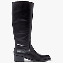 Buy John Lewis Tirol Knee High Boots, Black Leather Online at johnlewis.com