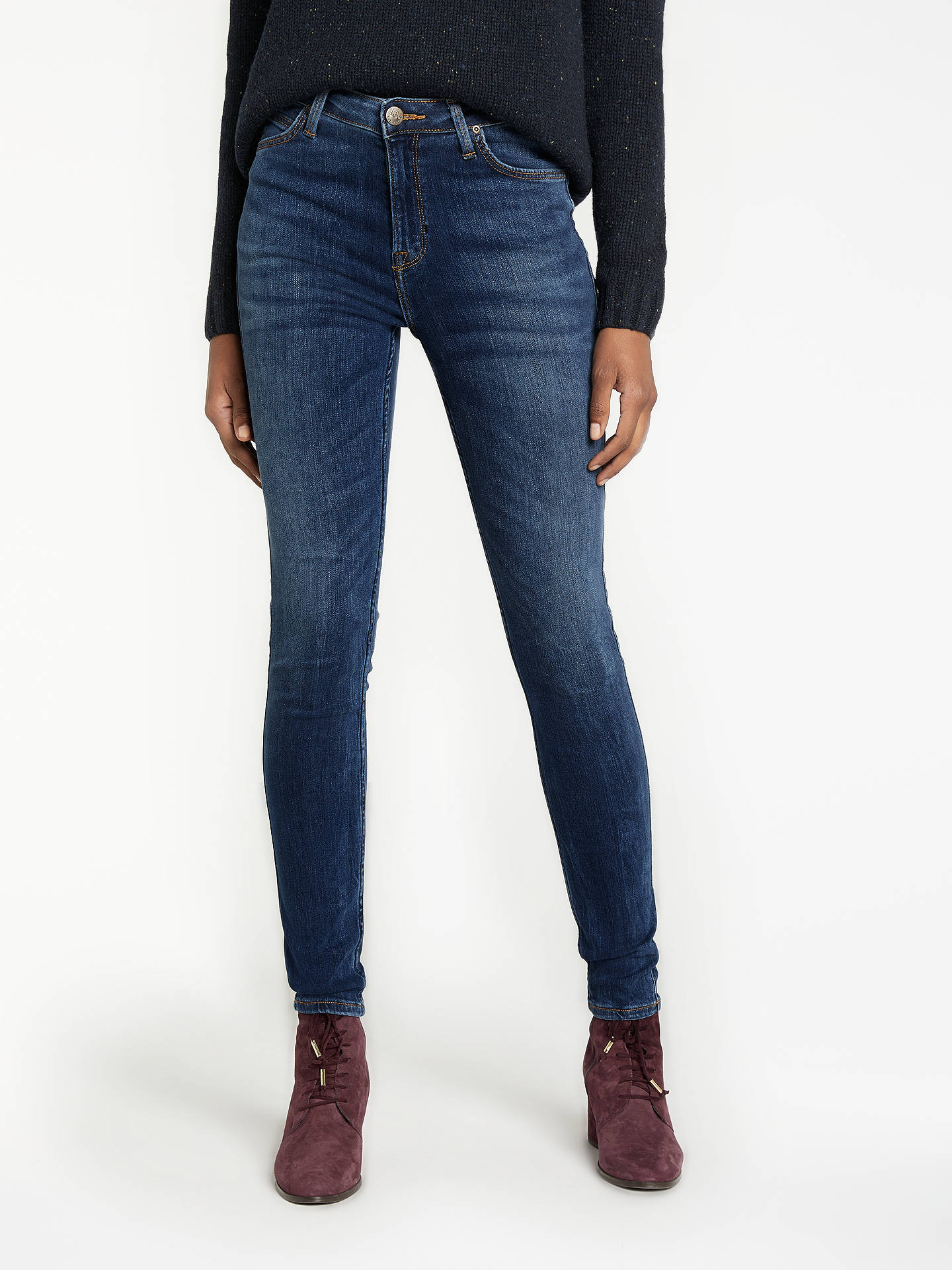 e887fcf8 Buy Lee Scarlett High Waist Skinny Jeans, Yankee Blue, W27/L31 Online at ...