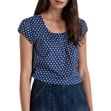 Buy Seasalt Garden Gate Top, Polka Dot Sapphire Online at johnlewis.com