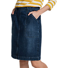 Buy Seasalt Landscapist Skirt, Mid Wash Indigo Online at johnlewis.com
