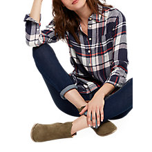 Buy Joules Laurel Check Shirt, Navy Multi Check Online at johnlewis.com