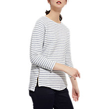Buy Joules Lilou Stripe Textured Sweatshirt, Grey Stripe Online at johnlewis.com