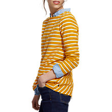 Buy Joules Caroline Textured Stripe Sweatshirt, Antique Gold Stripe Online at johnlewis.com