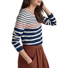 Buy Seasalt Shark's Fin Stripe Jumper, Sandhill Sapphire Online at johnlewis.com