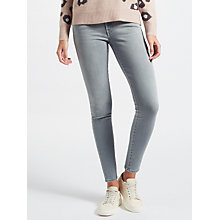 Buy 7 For All Mankind High Waist Skinny Slim Illusion Jeans, Grey Online at johnlewis.com