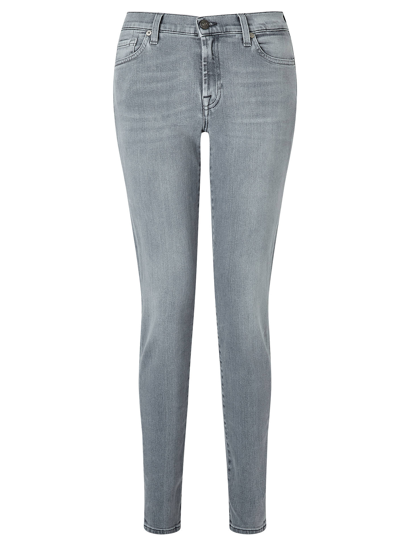 Buy 7 For All Mankind Mid Rise Skinny Slim Illusion Jeans, Grey, 26 Online at johnlewis.com
