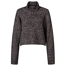 Buy Calvin Klein Scout Roll Neck Cropped Jumper, Black Heather Online at johnlewis.com