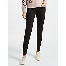 Buy 7 For All Mankind Rozie High Rise Slim Illusion Straight Leg Jeans, Black Online at johnlewis.com