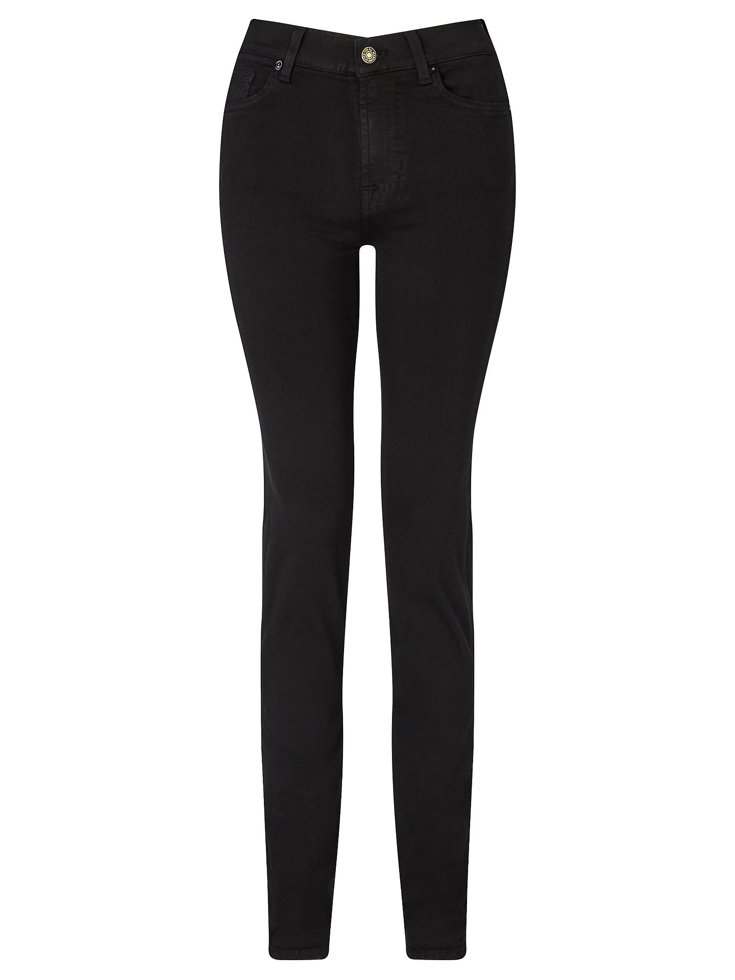 Buy7 For All Mankind Rozie High Rise Slim Illusion Straight Leg Jeans, Black, 26 Online at johnlewis.com