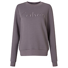 Buy Calvin Klein Hadar Logo Sweatshirt, Rabbit Online at johnlewis.com
