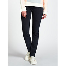 Buy Calvin Klein Mid Rise Straight Jeans, Wonder Rinse Online at johnlewis.com