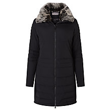 Buy Calvin Klein Ondine Padded Coat, Black Online at johnlewis.com