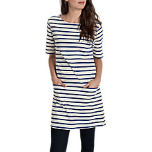 Buy Seasalt Pebble Shore Tunic Dress, Breton Ecru Sapphire Online at johnlewis.com