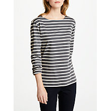 Buy Seasalt Sailor Jersey Top, Breton Lead Ecru Online at johnlewis.com