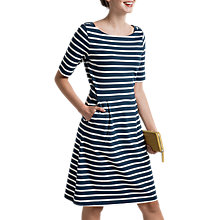 Buy Seasalt Stay Sail Dress, Breton Night Ecru Online at johnlewis.com