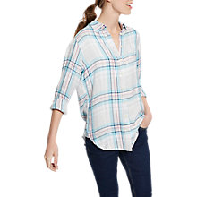 Buy Joules Laurel Long Sleeve Check Shirt, Pink/Black Check Online at johnlewis.com