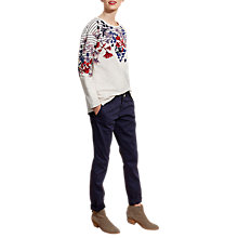 Buy Joules Clemence Printed Sweatshirt, Cream Fay Floral Border Online at johnlewis.com