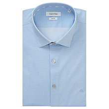 Buy Calvin Klein Bari Slim Fit Geometric Print Shirt, White/Blue Online at johnlewis.com