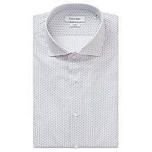 Buy Calvin Klein Rome Fitted Easy Iron Shirt, White/Purple Online at johnlewis.com