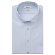 Buy Calvin Klein Rome Lines Fitted Easy Iron Shirt, White/Blue Online at johnlewis.com