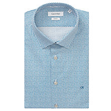 Buy Calvin Klein Bari Slim Fit CK Print Shirt, White/Blue Online at johnlewis.com