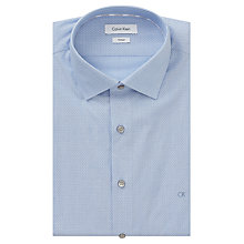 Buy Calvin Klein Cannes Dash Fitted Shirt, Light Blue Online at johnlewis.com