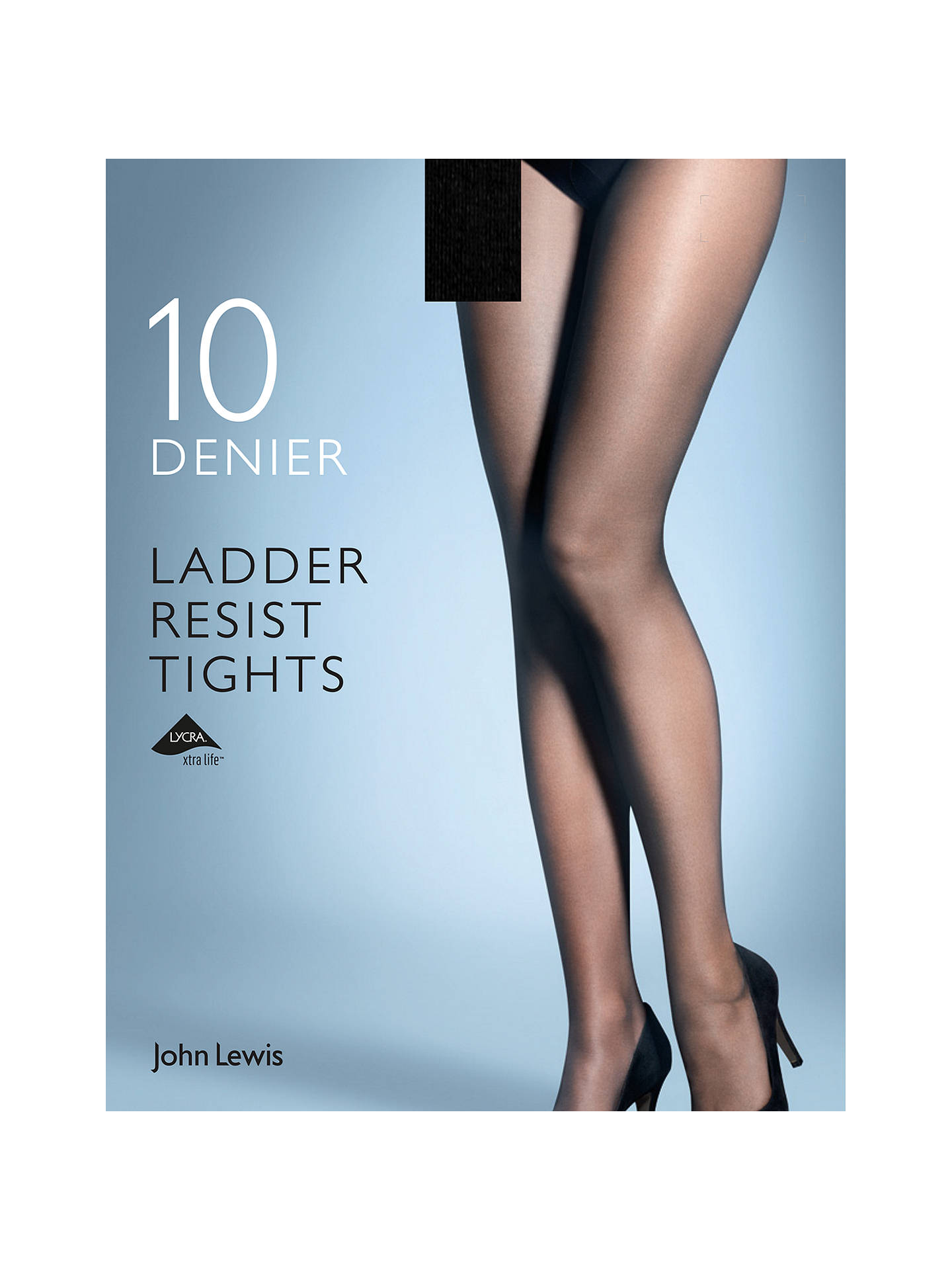 3b178eb9a2083 Buy John Lewis & Partners 10 Denier Smooth Ladder Resist Tights, Pack of 1,