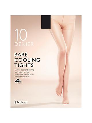 John Lewis & Partners 10 Denier Bare Cooling Tights, Pack of 1
