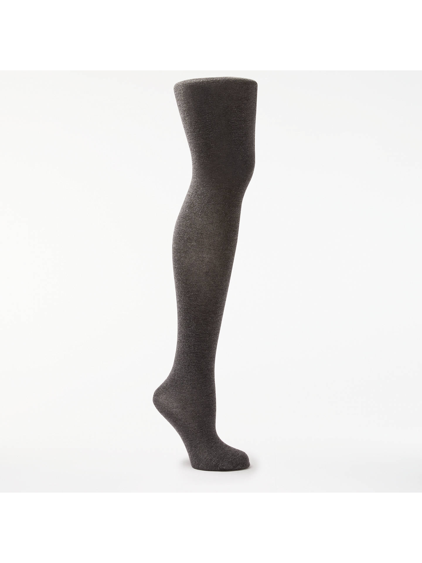 14b7b8ff41856 Buy John Lewis Cashmere Blend Opaque Tights, Grey, S Online at johnlewis.com