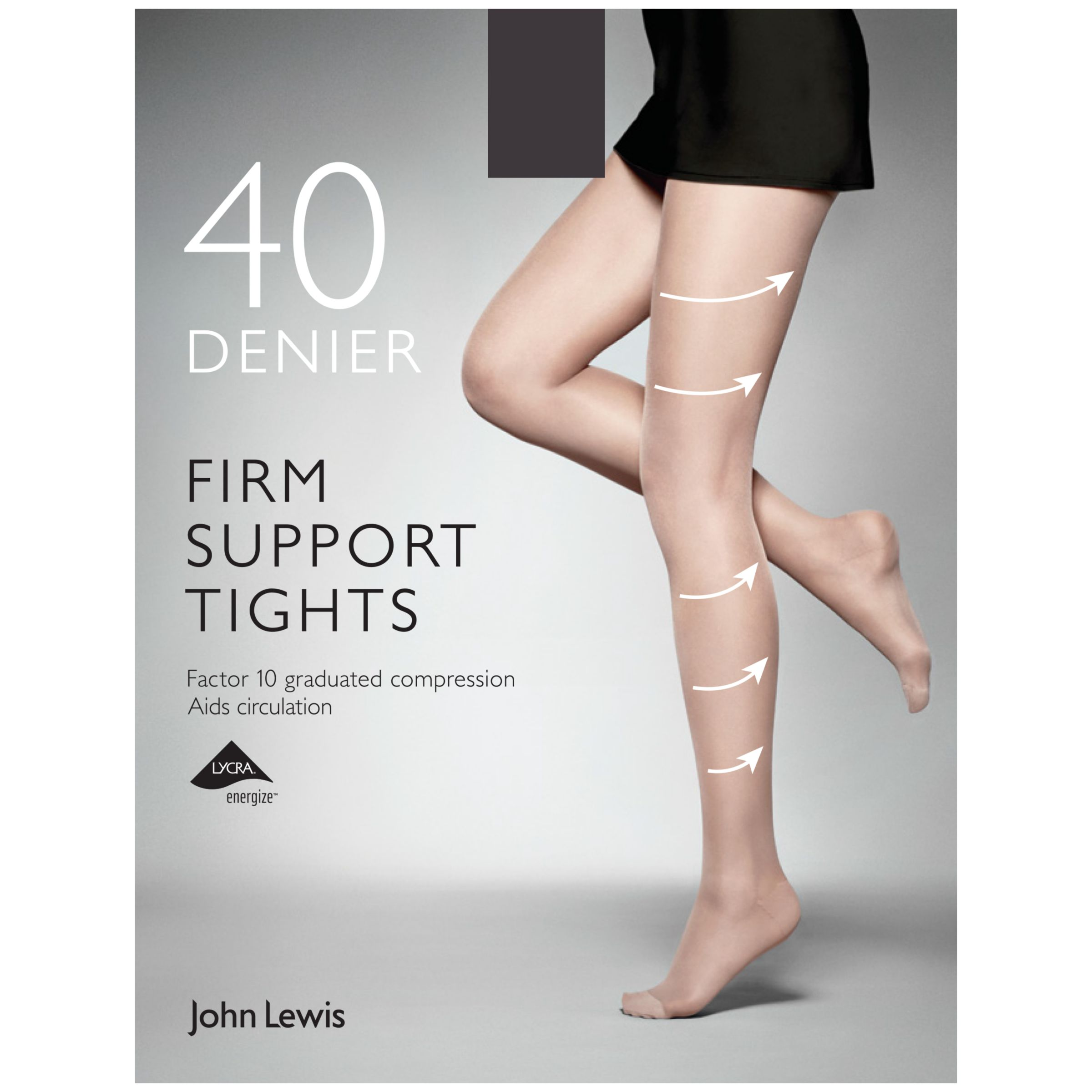 120476cf298c John Lewis & Partners 40 Denier Firm Support Tights, Pack of 1 at John  Lewis & Partners