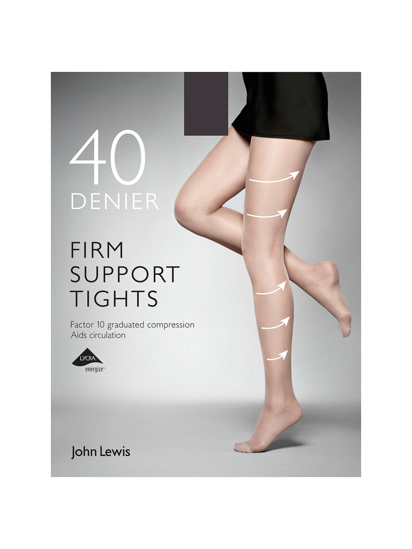 bfa01262bb79 Buy John Lewis & Partners 40 Denier Firm Support Tights, Pack of 1, Black  ...